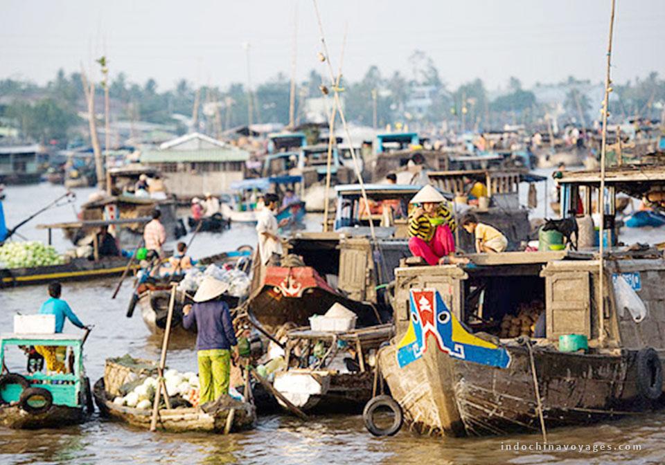 Cho noi Cai rang Mekong delta