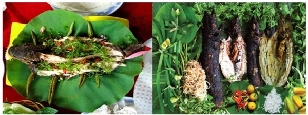 Grilled snakeheads become a special food which are always tasted by tourists at U Minh Thuong