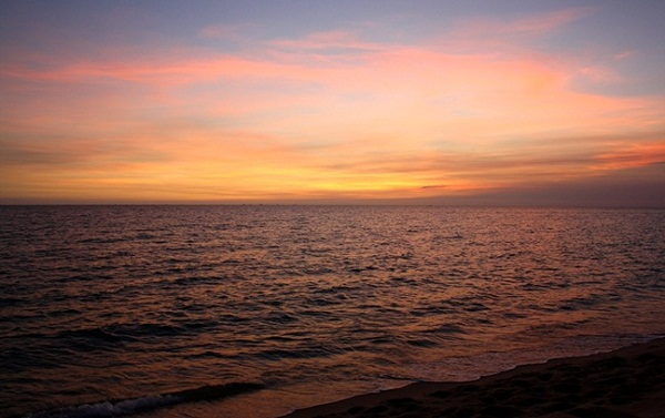 Phu Quoc's beach is famous for its sunset