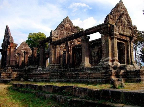 Preah Vihear Temple with an ancient beauty