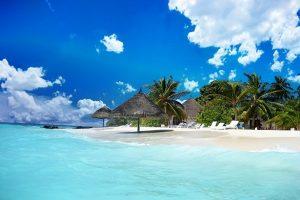 The peaceful beach