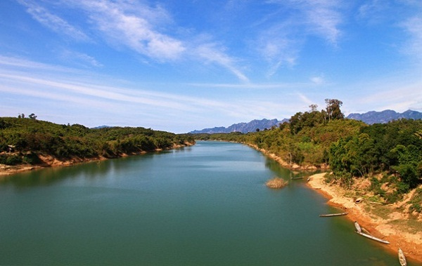 A picturesque scenery of the Mekong River in Laos