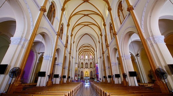 Inside of the church in Ho Chi Minh City