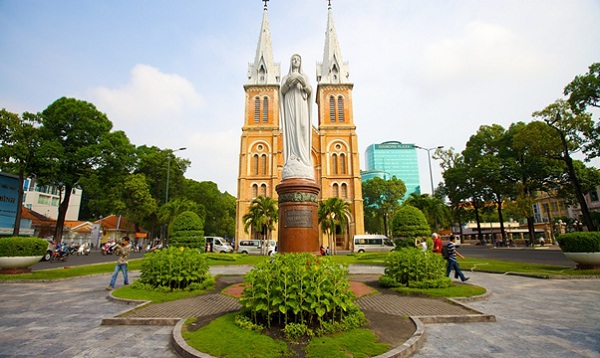 The Notre Dame Cathedral, the picturesque landmark in Ho Chi Minh