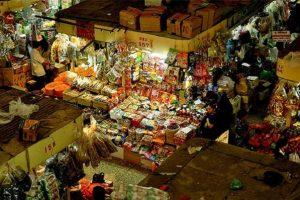 The impressive grocery store in the Russian Market, Cambodia