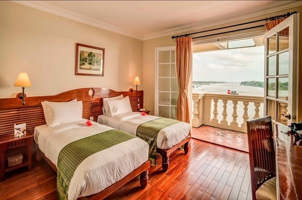 Rooms are beautifully decorated and offer river views