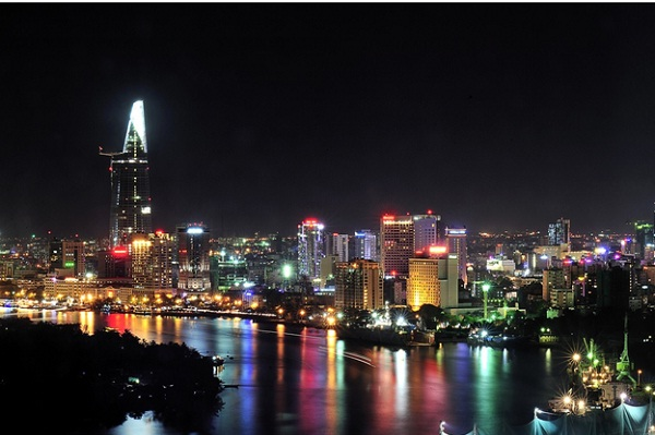 … is totally contrast to the modern life in Ho Chi Minh City.