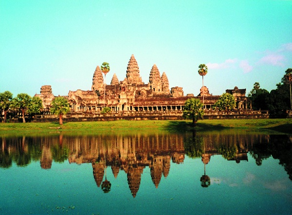 Angkor Wat, one of Angkor's largest Khmer temples