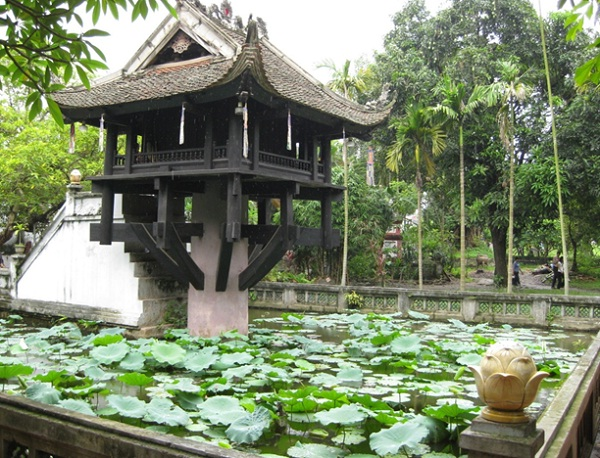 One Pillar Pagoda, one of Vietnam's most iconic monuments
