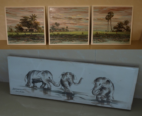 Artworks represent attractive beauty of Cambodia