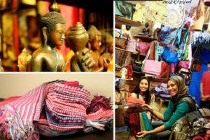 Souvenirs are often purchased in the Cambodia market