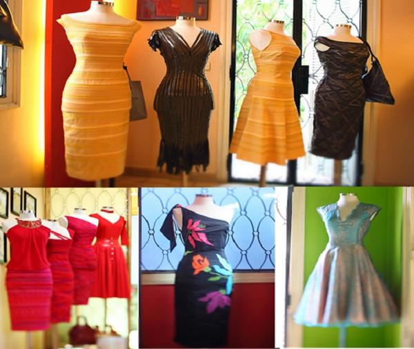 Stunning silk dresses