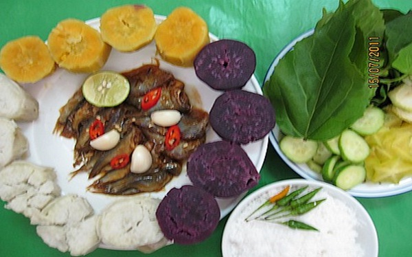 Sweet potato served with fish sauce used to be a popular dish of the poor