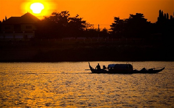 Sunset at Mekong is so magnificent and peaceful