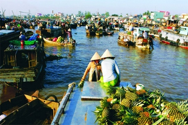 Tra On Floating Market