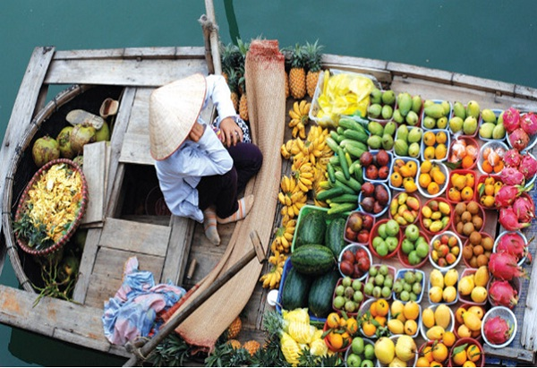 Floating market – unique culture of the Mekong Delta