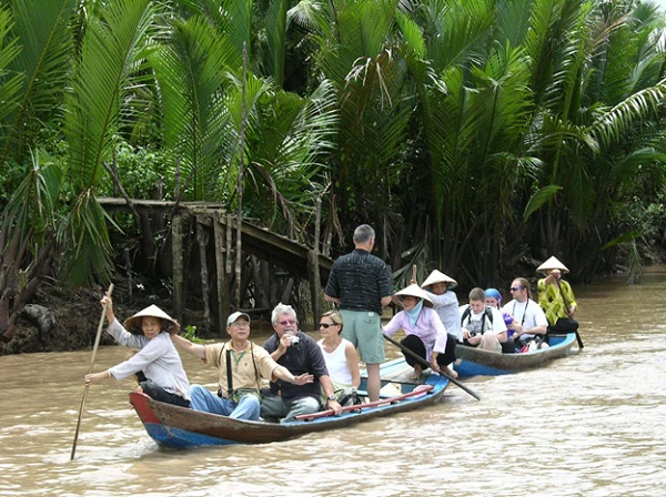 Taking a boat is the best way to enjoy your trip to the Mekong River Delta