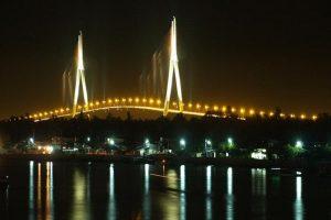 Can Tho Bridge at night