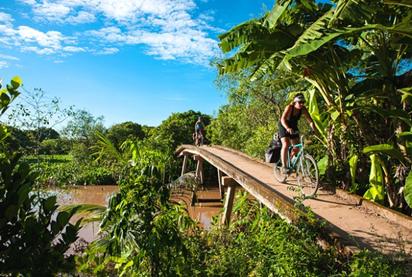 A bicycle tour is an ideal thing to do in Mekong Delta