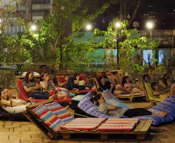 Terrace yard cinema