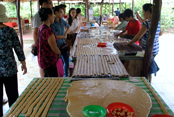 A coconut candy factory