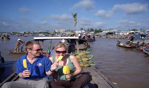 On board discovering the Mekong Delta