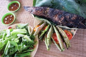 Roasted fish, a famous dishes in Dong Thap Muoi