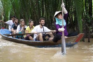 Ride a boat down the Mekong Delta