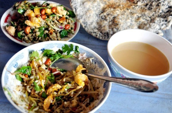Baby clam rice