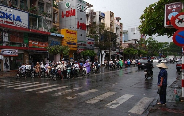 The monsoon season in Vietnam