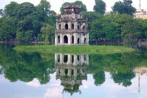 Hoan Kiem Lake in the heart of Hanoi