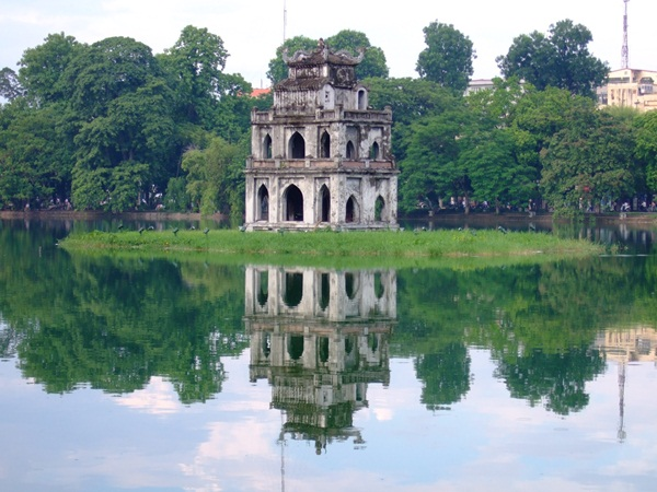Hoan Kiem Lake in the heart of Hanoi