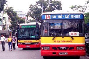 Bus inside Hanoi-