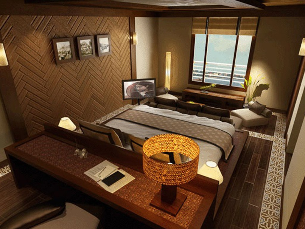 The arrangement of bedroom on AV Amalotus Boat