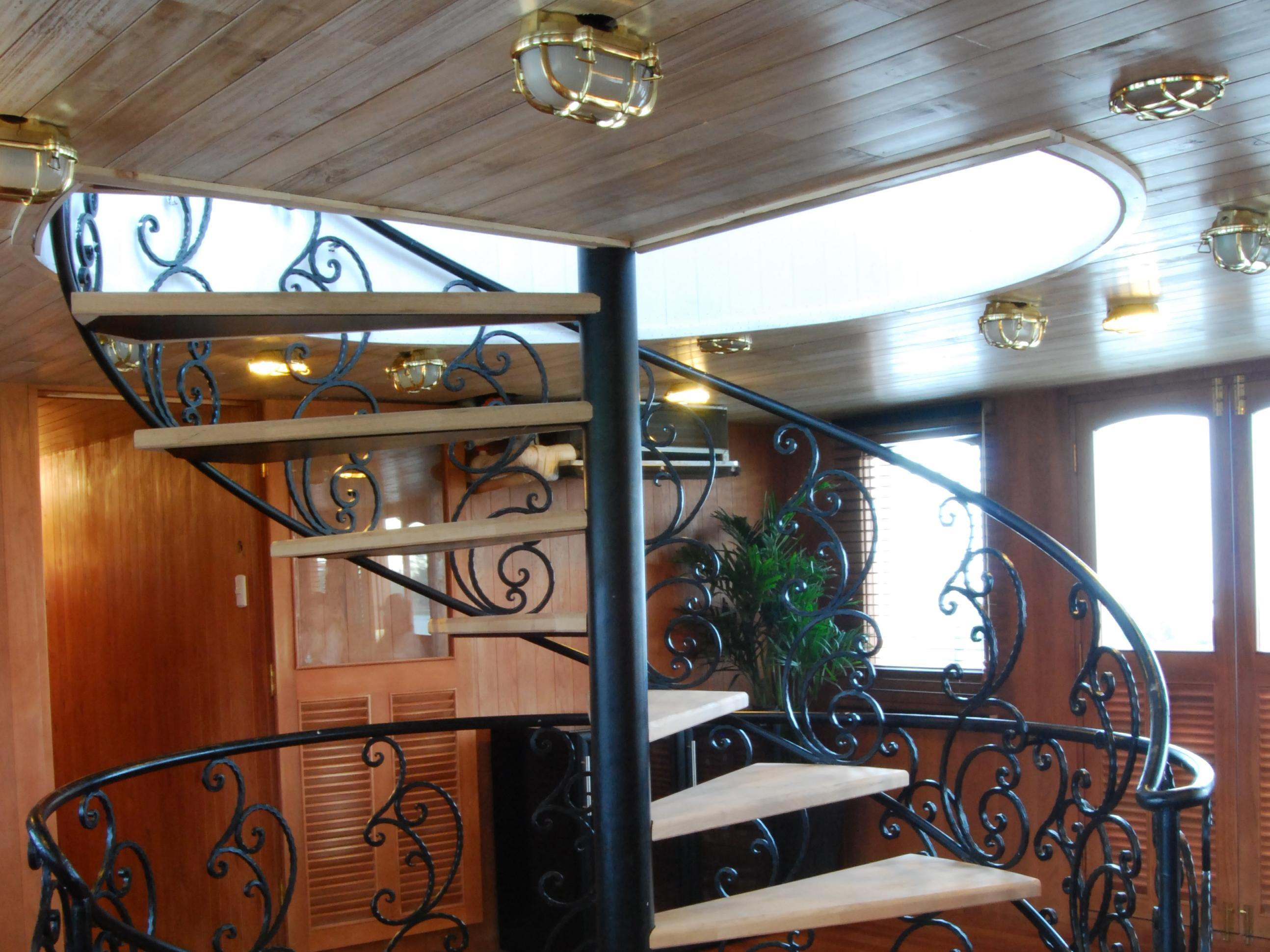 The unique style of the stairs on L'amant Cruises