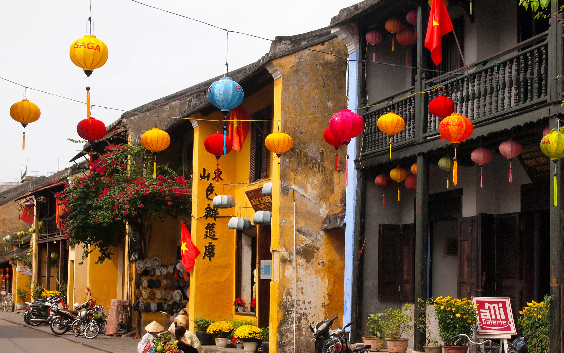 Colorful ancient houses in Hoi An