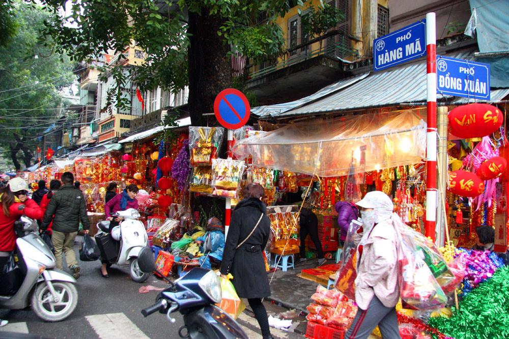 Hang Ma is one of street still sell traditional goods