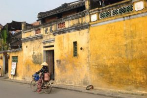 The lively butter yellow wall in every corners of Hoi An