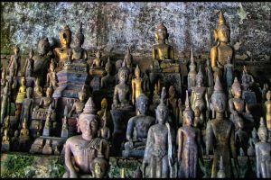 The massive collection of Buddha images