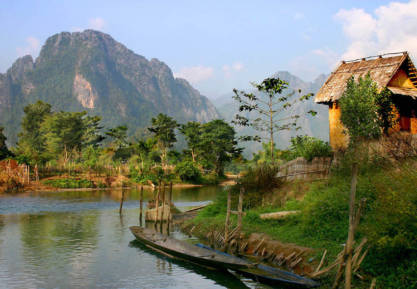 The old village-Vang Vieng, Laos