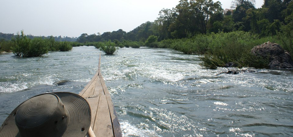 Boating near Laos border and Stung Treng