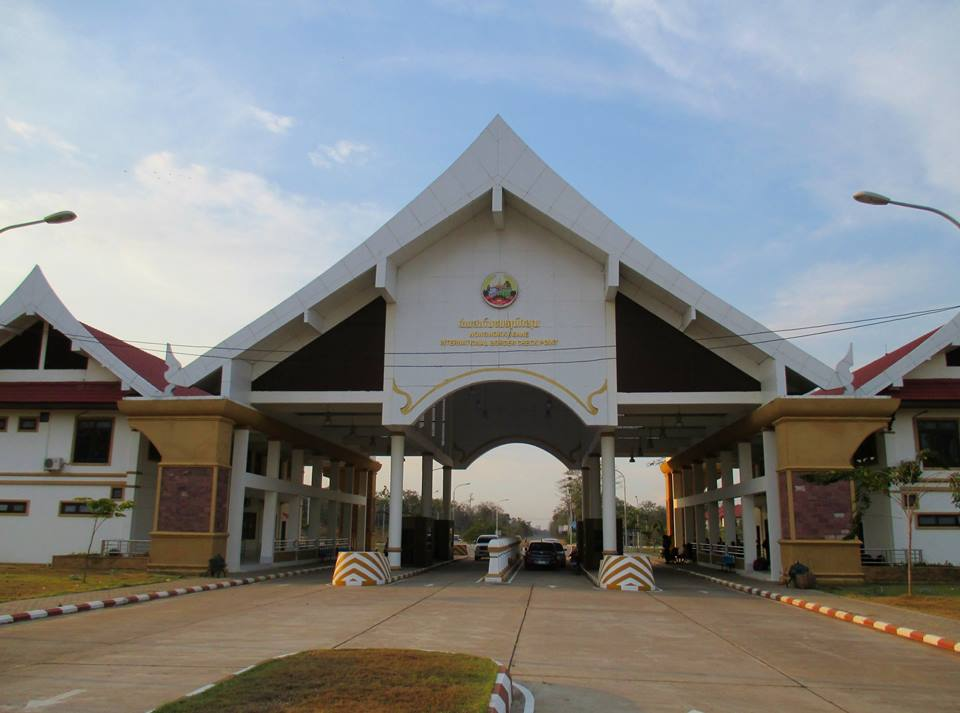 Checkpoint building on the Laos side