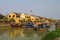 In November, the climate in Hoi An is wet