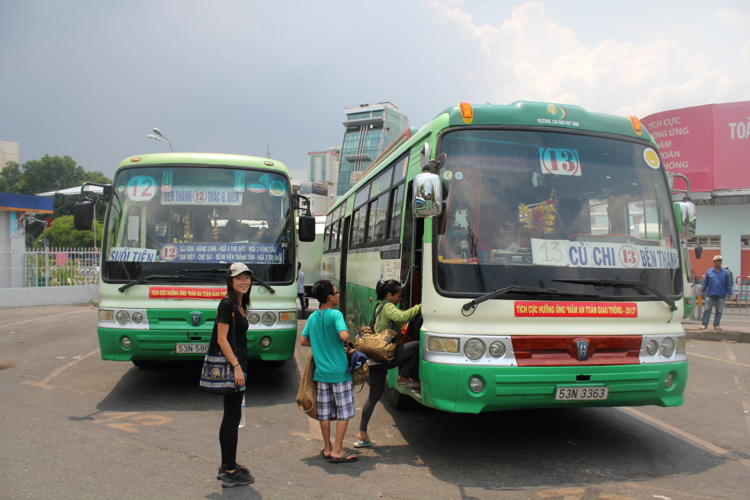 Public bus to Cu Chi Tunnels