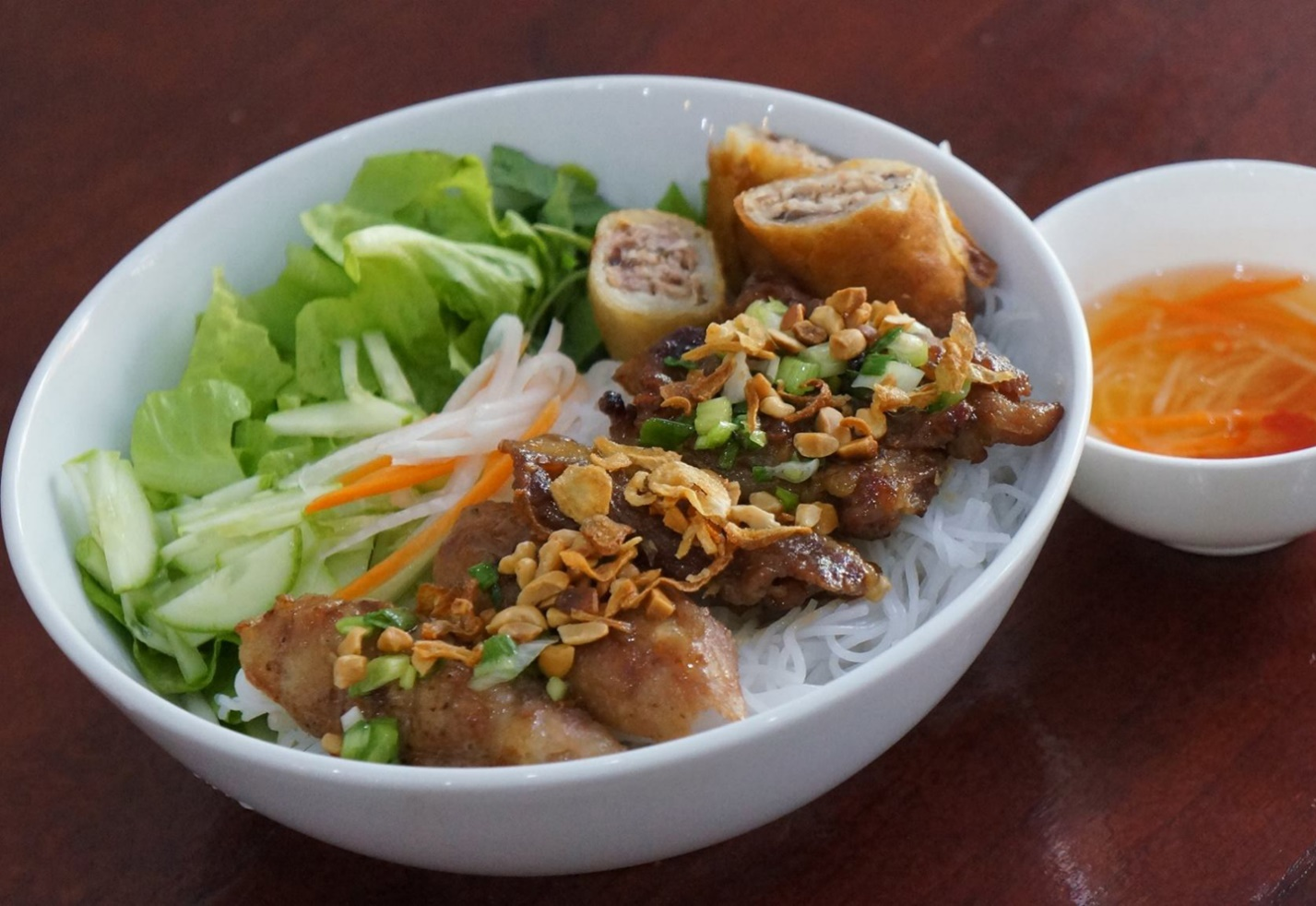 A bowl of delicious Bun Thit Nuong
