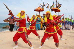 An interesting activity in Cau Ngu festival on Cu Lao Cham