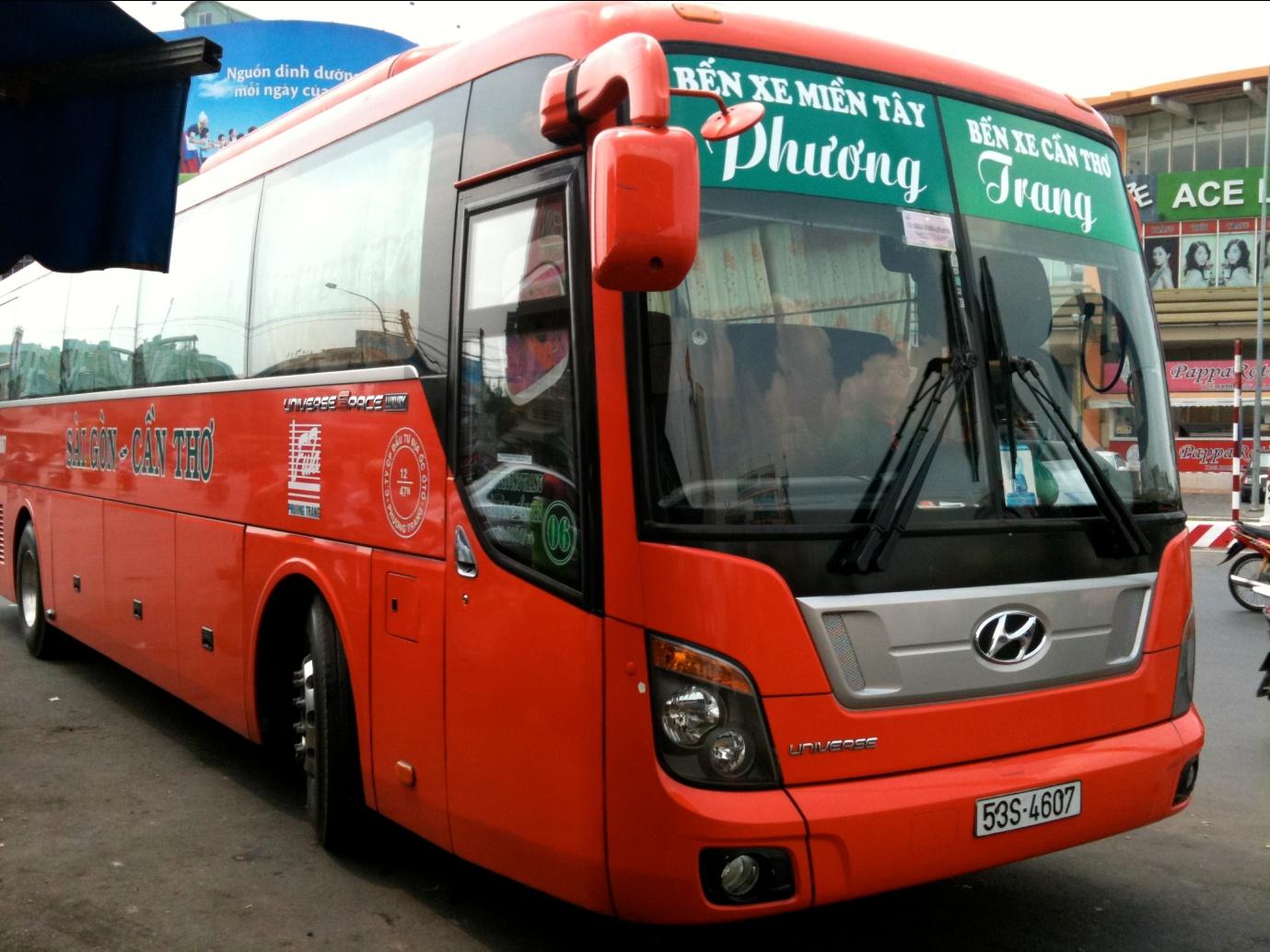 Phuong Trang bus from Ho Chi Minh City to Chau Doc