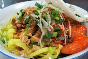 Quang noodles has less broth than other Vietnamese noodle soups