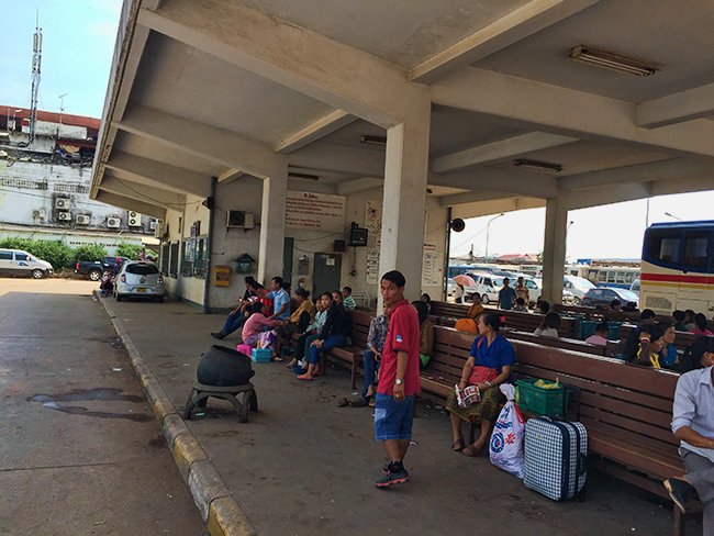 Bus station in Vientiane