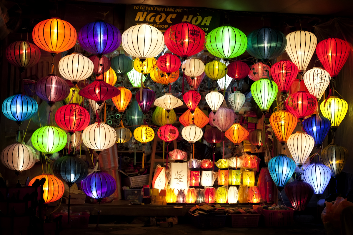 Colorful lantern in Hoian Ancient town